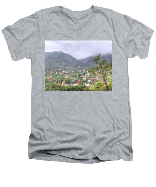 Manitou To The South II Men's V-Neck T-Shirt by Lanita Williams