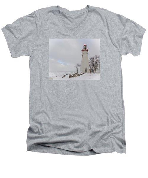 Marblehead Lighthouse Lake Erie Men's V-Neck T-Shirt