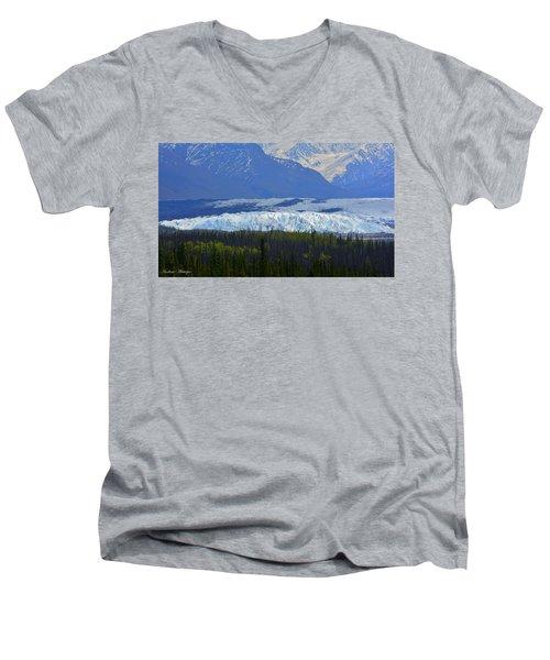 Matanuska Glacier Men's V-Neck T-Shirt by Andrew Matwijec