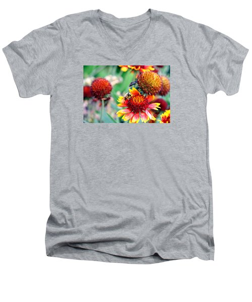Meadow Flowers Men's V-Neck T-Shirt