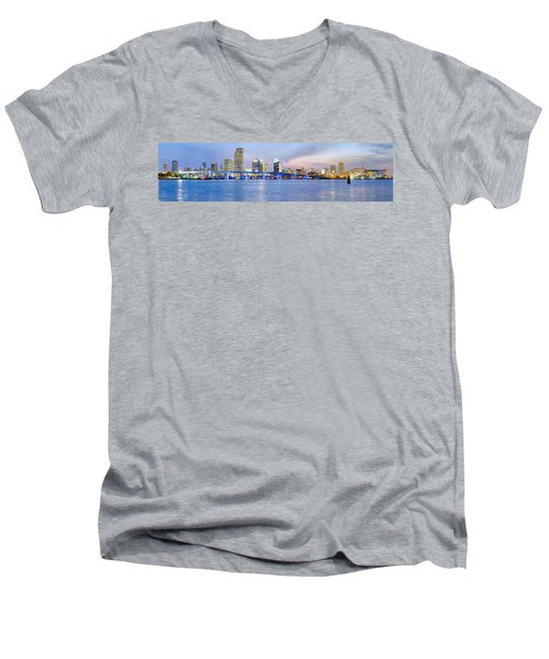 Miami 2004 Men's V-Neck T-Shirt by Patrick M Lynch