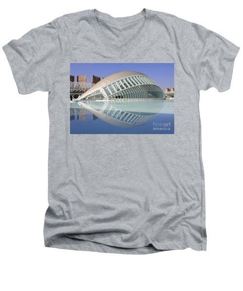 The Hemisferic In Valencia Spain Men's V-Neck T-Shirt