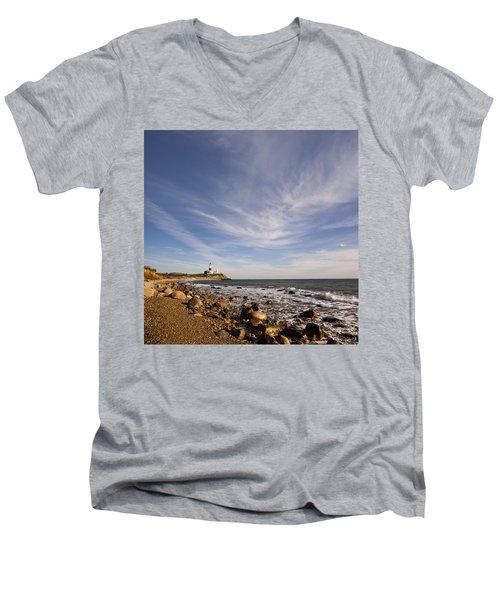 Montauk Point Lighthouse Men's V-Neck T-Shirt