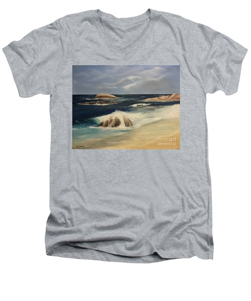 Monterey Coast Men's V-Neck T-Shirt