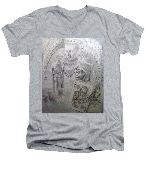 My Foolish Heart Men's V-Neck T-Shirt by Rich Milo