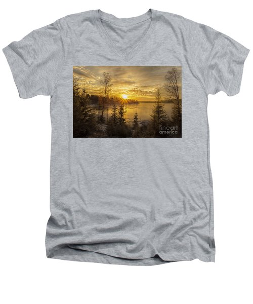 Men's V-Neck T-Shirt featuring the photograph Norway by Rose-Maries Pictures