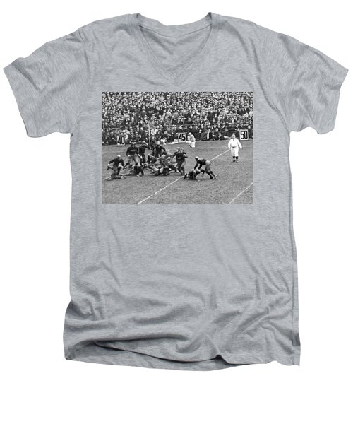 Notre Dame-army Football Game Men's V-Neck T-Shirt by Underwood Archives