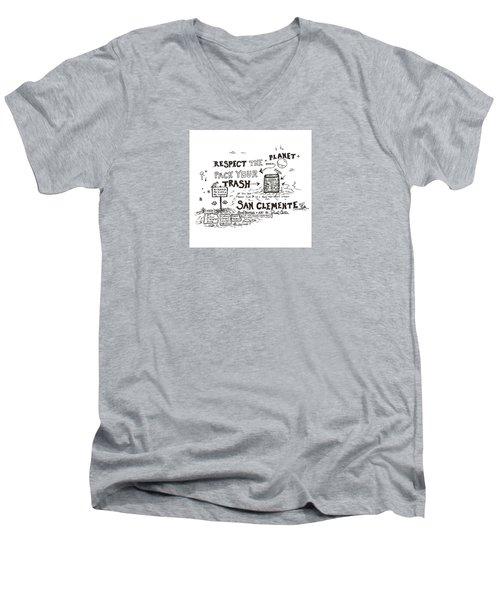 Pack Your Trash Men's V-Neck T-Shirt