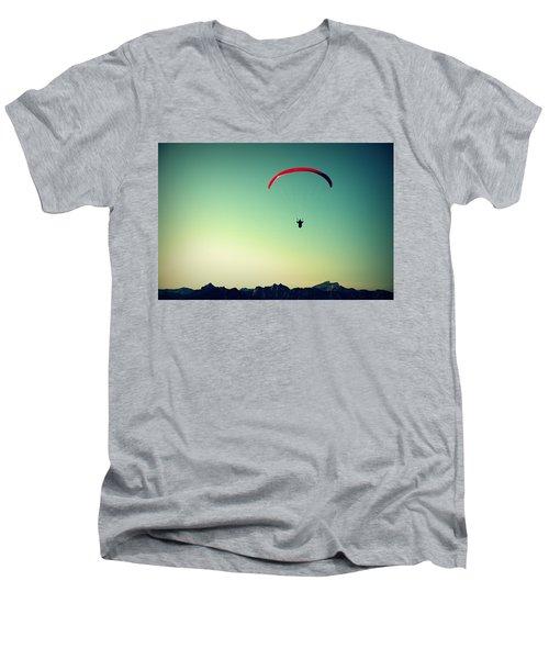 Paraglider Men's V-Neck T-Shirt