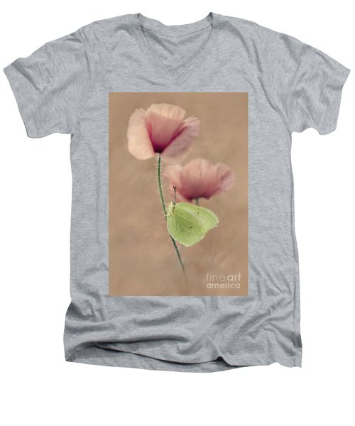 Poppies Men's V-Neck T-Shirt by Jaroslaw Blaminsky