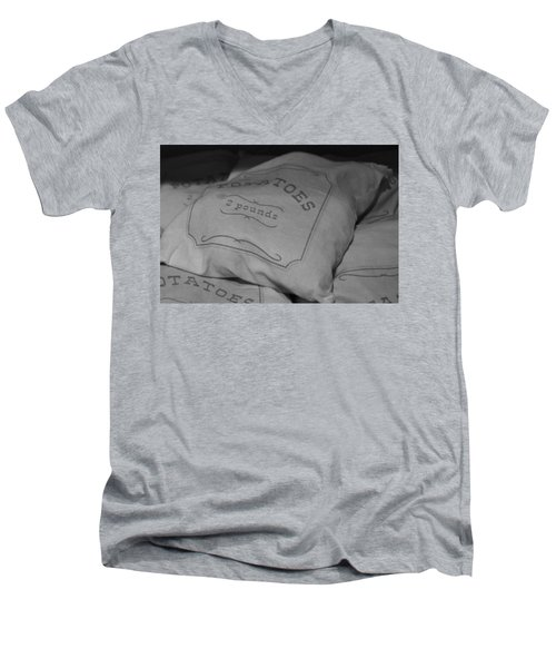 2 Pounds Of Potatoes Men's V-Neck T-Shirt by Holly Blunkall