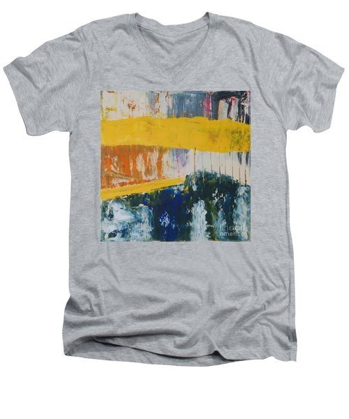 Raw Energy Men's V-Neck T-Shirt by Mini Arora