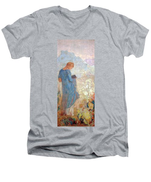Redon's Pandora Men's V-Neck T-Shirt by Cora Wandel