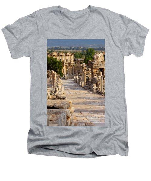 Ruins Of Ephesus Men's V-Neck T-Shirt