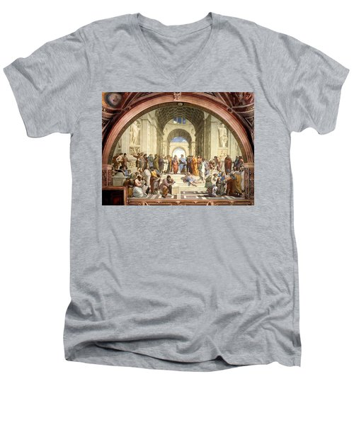 School Of Athens Men's V-Neck T-Shirt