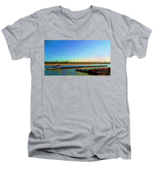 Men's V-Neck T-Shirt featuring the photograph Slow And Steady by Kelly Awad