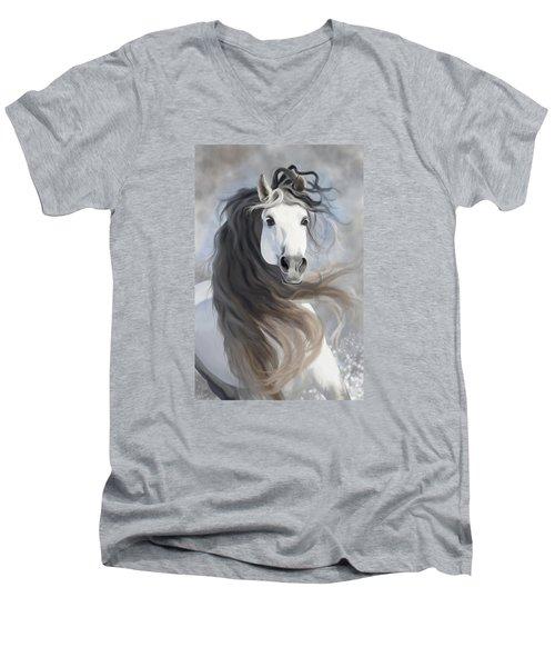Snowflake Men's V-Neck T-Shirt by Kate Black