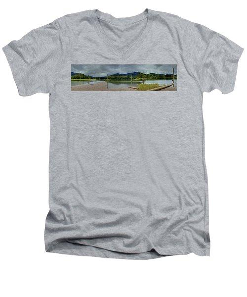 Sunny Beach Point Men's V-Neck T-Shirt