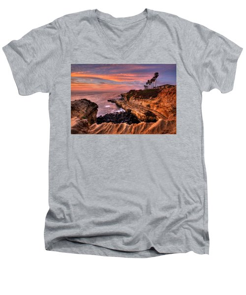 Sunset Cliffs Men's V-Neck T-Shirt