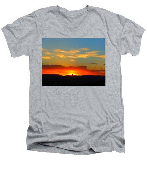 Sunset In The Desert Men's V-Neck T-Shirt