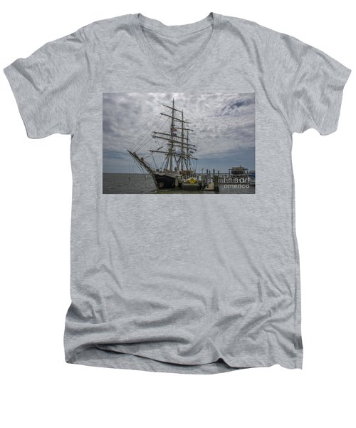 Men's V-Neck T-Shirt featuring the photograph Tall Ship Gunilla by Dale Powell