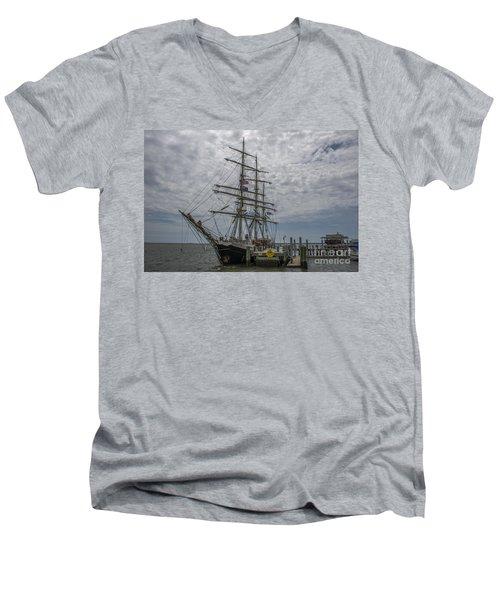 Tall Ship Gunilla Men's V-Neck T-Shirt by Dale Powell