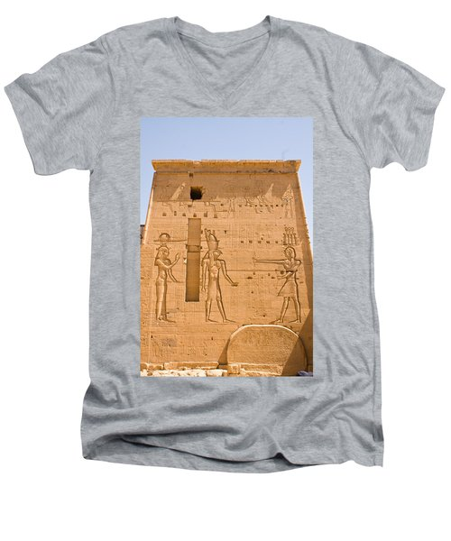 Temple Wall Art Men's V-Neck T-Shirt