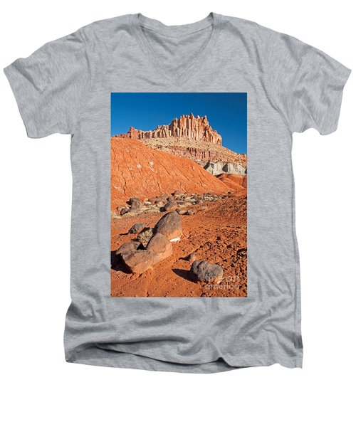 The Castle Capitol Reef National Park Men's V-Neck T-Shirt