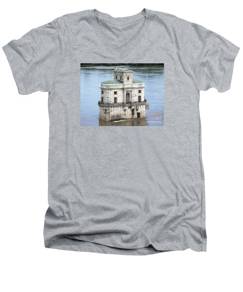 Men's V-Neck T-Shirt featuring the photograph The Old Water House by Kelly Awad