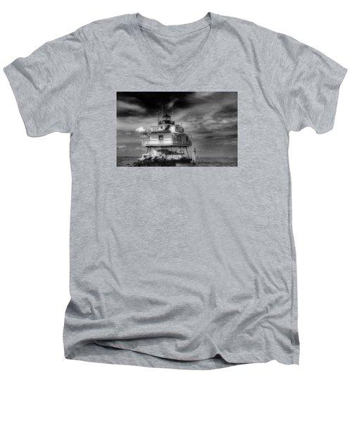 Thomas Point Shoal Lighthouse Bnw Men's V-Neck T-Shirt