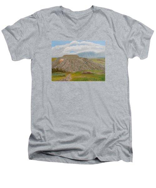 Tucumcari Mountain Reflections On Route 66 Men's V-Neck T-Shirt