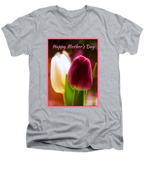 2 Tulips For Mother's Day Men's V-Neck T-Shirt
