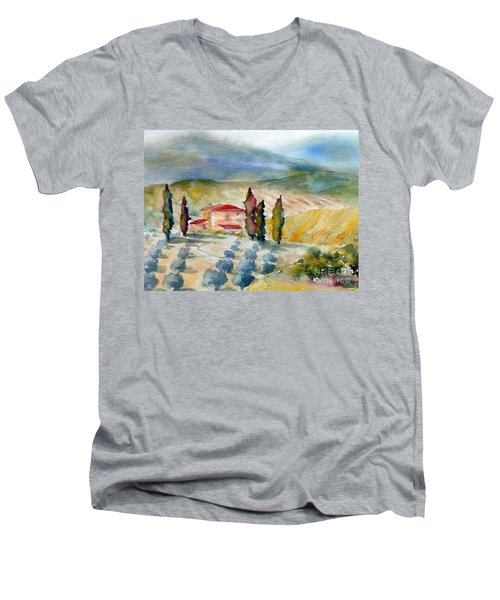 Tuscan Landscape Men's V-Neck T-Shirt