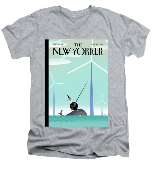 New Yorker May 10th, 2010 Men's V-Neck T-Shirt