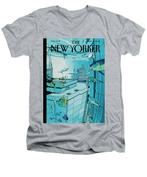 New Yorker April 25th, 2005 Men's V-Neck T-Shirt