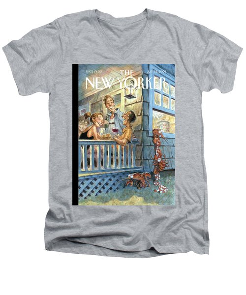 New Yorker July 28th, 2008 Men's V-Neck T-Shirt