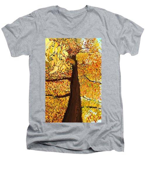 Up Tree Men's V-Neck T-Shirt