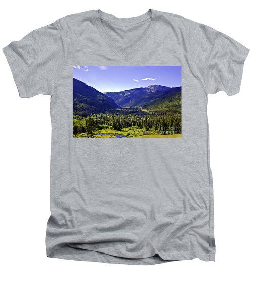 Vail Valley View Men's V-Neck T-Shirt by Madeline Ellis