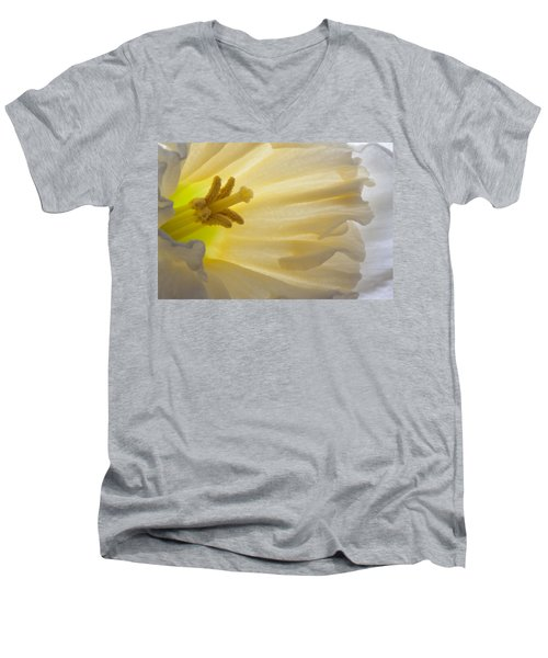 White Daffodil  Men's V-Neck T-Shirt