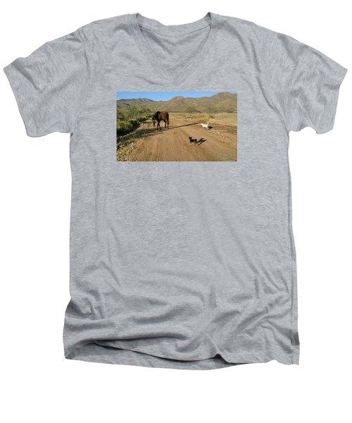 Three Friends On The Range Men's V-Neck T-Shirt