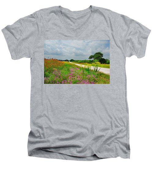 Wildflower Wonderland Men's V-Neck T-Shirt