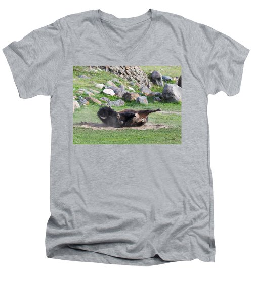 Yellowstone Bison Men's V-Neck T-Shirt