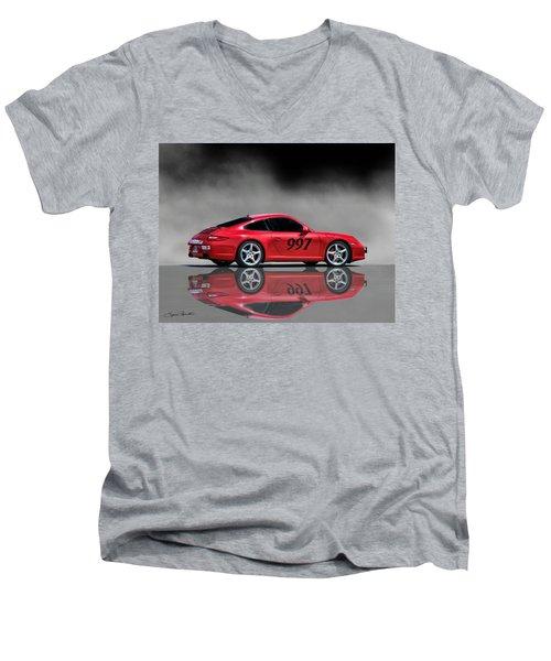 2009 Porsche Carrera Men's V-Neck T-Shirt