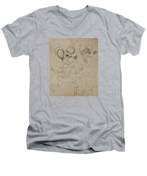 2298 Men's V-Neck T-Shirt