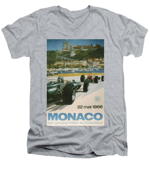 24th Monaco Grand Prix 1966 Men's V-Neck T-Shirt