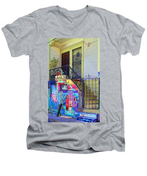 25 Balmy Alley San Francisco Men's V-Neck T-Shirt