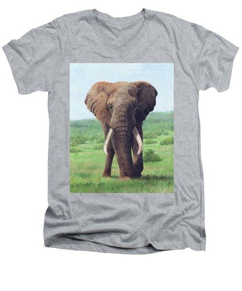 African Elephant Men's V-Neck T-Shirt