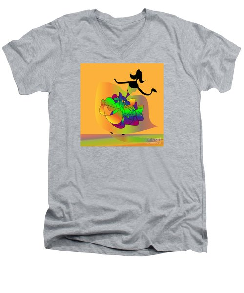 At The Prom Men's V-Neck T-Shirt by Iris Gelbart