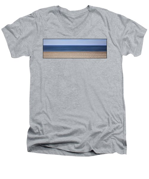 Color Bars Beach Scene Men's V-Neck T-Shirt