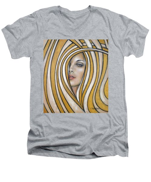 Golden Dream 060809 Men's V-Neck T-Shirt